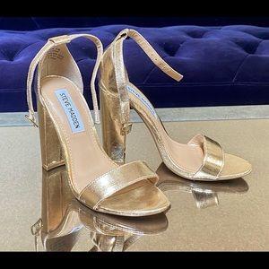 Steve Madden Gold CARRSON sz 5.5M block Heels